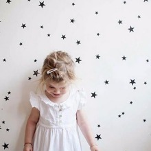 Wall Stickers Gold Stars Pattern Vinyl Wall Art Decals Nursery Room Decoration Wall Stickers for Kids Rooms Home Decor