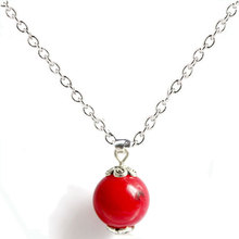Red Coral Pendant Necklaces Quartz Natural Stone Charm Necklaces Fashion Collar Women Jewelry Wholesale ZSE