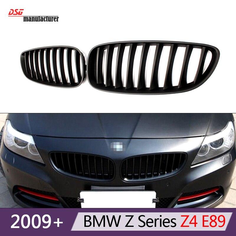 z4 e89 front bumper grills for bmw Z4 e89 2009 - 2016 roadster 20i 23i 28i 30i 30i 35i 35is kidney grille mesh<br><br>Aliexpress
