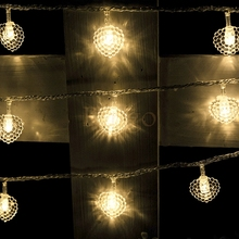 20M Love heart shape String Lights 200LEDS Fairy Lights for Wedding party Garland livingroom birthday Christmas stage decoration
