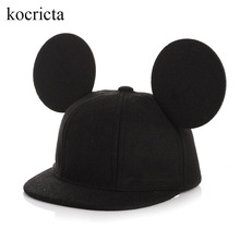 Toddler Children Boys Girls Cap Baby Baseball Caps Infant Kids Autumn Winter Hats With Cute Ears Casual Hip Hop Woolen Snapback(China)