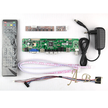 HDMI CVBS RF USB VGA Audio Video LVDS TV PC Controller Board + 40P Lvds Cable Kits for LP156WH4 1366x768 1ch 6 bit LCD Display