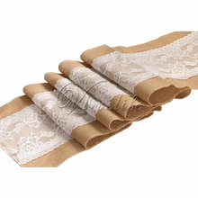 "Home Decor 1Piece Burlap Table Runners Jute Burlap Ribbon Tablecloth for Hotel Banquet Event Party Wedding Decor 12""x108"""
