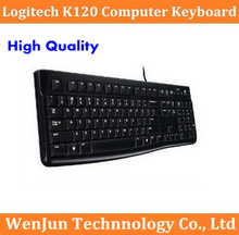 Free Shipping Logitech K120 computer keyboard USB cable keyboard, laptop desktop ultra-thin mute keyboard