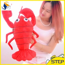 2016 Free Shipping 1PCS 65cm Creative Simulation Lobster Plush Animal Toy Throw Pillow Home Decor Gifts for Children ST420(China)