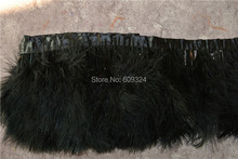 10 meters black marabou feather trimming fringe marabou trim for sewing(China)
