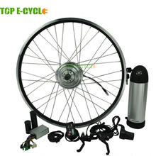 TOP e-cycle 350W electric bike conversion kits with lithium battery(China)