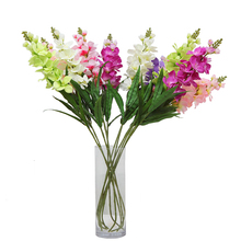 Real Touch Artificial Butterfly Orchid Flower Silk Plastic Craft for Wedding Home Living Room DIY Decoration Fake Flowers JK394(China)