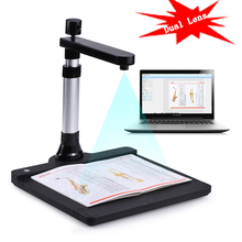 Dual Lens 10 Mega-pixel HD A3 Document Scanner OCR Camera Documents Book Scanner Office Book Image Document Camera Scanner(China)