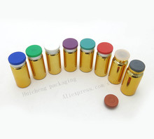 100  x 10ml UV gold glass vials 10cc glass bottle with flip off cap cosmetic packaging essence bottle skincare