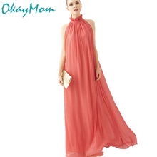Maternity Dresses Long Chiffon Bohemian Dress Party Evening Clothes For Pregnant Maternity Photography Props Photo Shoot Dress(China)