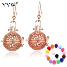 New Essential Oil Diffuser Earring Locket for Woman Harmony Ball Earring Brass hollow Parfum Women Perfume(China)