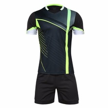 New Design Mens Football Jerseys Boys Short Sleeve Soccer Training Sets Breathable Football Jerseys Sports Suit Uniform Jerseys(China)