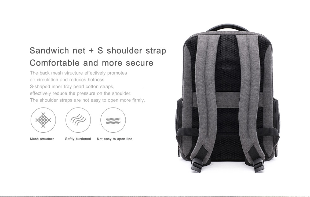 Xiaomi Fashion Commuting Waterproof backpack Removable Front Bag Big Capacity men backpacks travel backpack Laptop Bag male H0 (38)