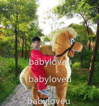 New High quality 2 person horse Mascot Costume costume cosplay halloween costume christmas Crazy Sale