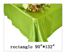 "Free shipping rectangle tablecloth size 90""*132"" color Apple green for wedding decoration /rustic dining tables"