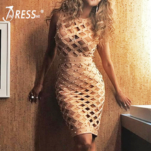 Buy INDRESSME 2017 New Arrival Sexy Hollow O Neck Midi Beading Fashion Summer Women Lady Bandage Dress Femme Vestidos for $27.00 in AliExpress store
