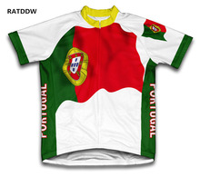 Portugal Flag Cycling Jersey For Men and Women maillot ciclismo Mens Bicycle Summer Breathable Dry Shirt(China)