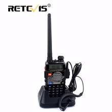 Retevis RT5RV VHF UHF Dual Band Walkie Talkie 5W 128CH 1400mAh FM Radio VOX Handsfree Flashlight Scan Amateur Radio Transceiver(China)