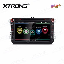 XTRONS 8 inch Car DVD Player 2 din Radio DAB+Canbus GPS Navigation For vw Amarok Beetle Bora Jetta Caddy T5 Multivan/SKODA/SEAT(China)