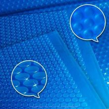 Blue swimming pool cover 400 micron solar blanket any size and shape can be customized from MOQ 1PCS cover for pools(China)