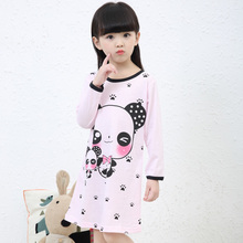 Wholesal 3-11Y Wear New 2017 Autumn &Spring Style Girl Nightgown Children Cloth Girls Sleepwear Kids Girls Princess Girl Cloth
