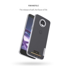 NILLKIN Ultra Thin Soft TPU For Moto Z Dust Plug Transparent Crystal Clear Silicon Case Phone Bag Cover For Motorola Moto Z Case