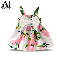 Ai Meng Baby Sundress Newborn Baby Dress Girls Clothes Lemon Print Designs 1 Year Birthday Dress Baby Kids Holiday Party Costume
