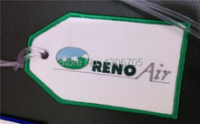 Embroidered Green Reno Air Luggage Bag Tag