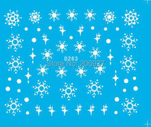 2PCS D263 Snowflake Nail Art Water Decal Nail Water Transfer Sticker