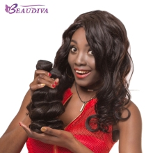 "Buy Beaudiva Brazilian Loose Wave Bundles 100% Human Hair Extensions Remy Brazilian Hair Weave Bundles 3 Pieces 8""-28"" Natural Color for $43.16 in AliExpress store"