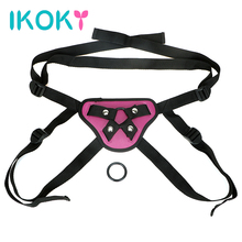Buy IKOKY Roleplay Wearable Strap Dildos Pants Lesbian Underwear Sex Pants Strapon Penis Bondage Sex Toys Women