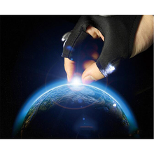 Led Flashlights Torch Cover Finger Gloves Fishing Glove Rescue Gloves With Finger Lights for Outdoor Darkness Situation