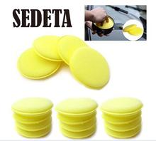 12 pcs Hand Soft Wax Yellow Sponge Pad/Buffer for Car Detailing Care Wash Clean New