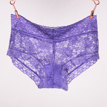 Buy 3PCS Sexy Transparent Lace Panties Boyshort Women Boxer Shorts  Brand Underpants Female Knickers Full Lace Boxers Underwear New