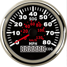 1pc GPS Speedometers Odometers 85mm Milometers 0-35MPH 0-80MPH Odographs 9-32V Use for Cars with Light and GPS Antenna