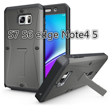 For samsung S7 Edge S6 /Note 4 5 Waterproof Cell Phone Case Military Tanks Armour 3 in 1 PC+TPU Hybrid Armor Stents Case Cover
