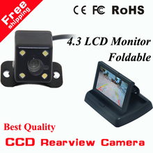 "HD CCD rear view Camera + 4.3"" HD 800*480 Car Mirror Monitor rear view mirror monitor CCD car parking camera back up camera(China)"