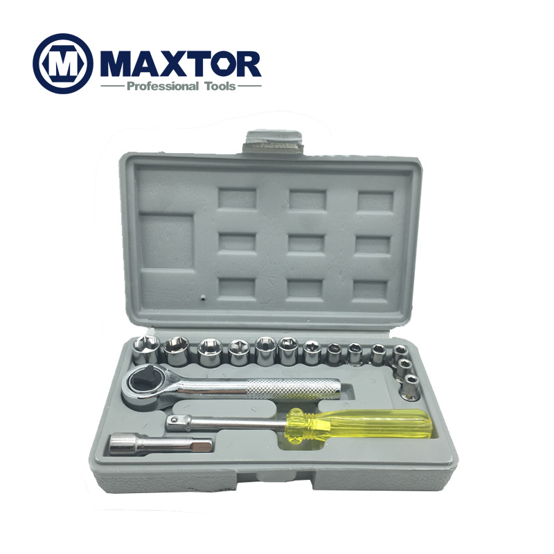Maxtor 17Pcs Spanner Socket Set 1/4 Car Repair Tool Ratchet Wrench Set Combination Household Tool<br><br>Aliexpress