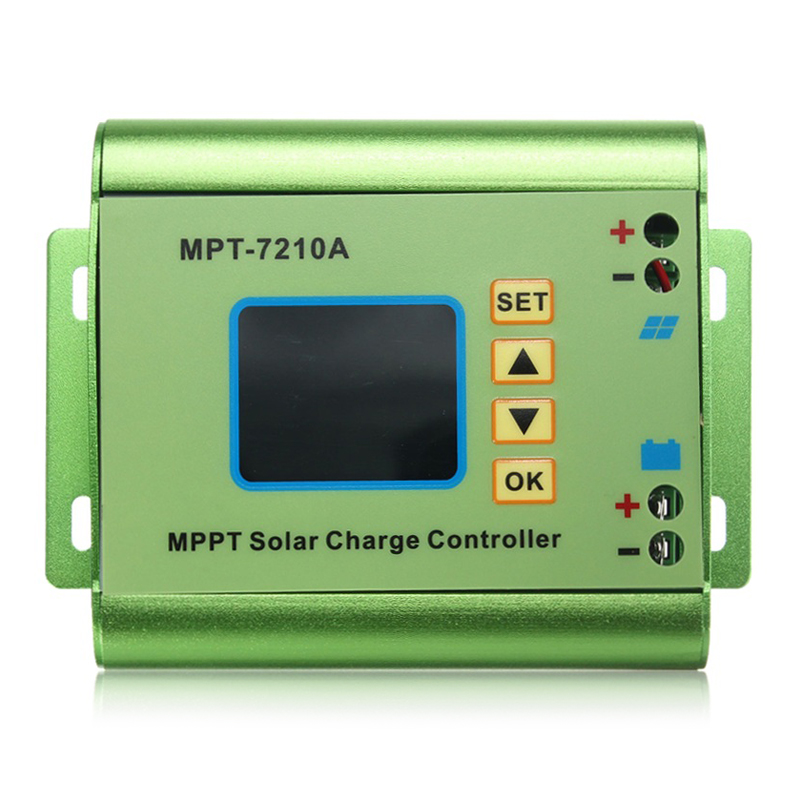24/36/48/60/72V 10A DC-DC Boost LCD MPPT Solar Regulator Charge Controller 7210A<br>
