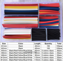 360pcs/set Polyolefin 2:1 Heat Shrink Tubing Assorted Insulation Shrinkable Cable Sleeve Colourful Combo Wrap Wires DIY Kits(China)