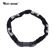 WEST BIKING Bike Bicycle Lock Unsteallable Strong Magnetic Card Safety Anti-hydraulic Shear Chain 1M General Bike Cycling Lock
