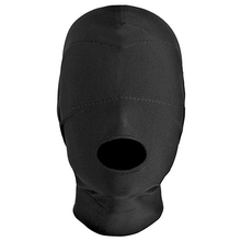 Disguise Open Mouth Hood with Padded Blindfold,Cosplay Mask,BDSM Bondage Restraints,Sex Toys For Couple(China)