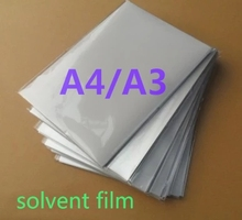 A4 A3 sizeinkjet transparent film for solvent printer printing (50 sheets one bag)(China)
