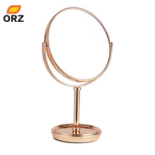 ORZ 6.6 Inch 3x Desktop Makeup Mirror Two-Sided Bathroom Cosmetic Rotatable Magnifying Stand Glass Mirror Home Decoration Gift(China)