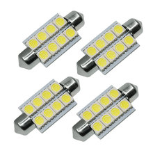 10 PCS/Lot 42mm 5050 8SMD White LED Light Lamp Car Interior Light Festoon Dome LED Light Bulbs Lamp DC12V Wholesale