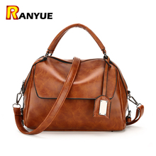 Buy Black Brown Retro Vintage Women Bag Famous Brand Designer Women Leather Handbags Ladies Shoulder Bags Female Tote Bolsos Mujer for $18.72 in AliExpress store