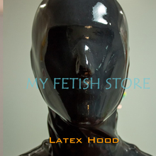 Buy (DM013) Top quality DM 100% natural full head human face without zipper latex mask rubber hood suffocate Mask fetish wear