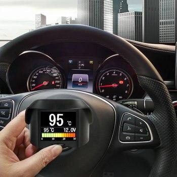 A202 de Múltiples Funciones Del Coche OBD medidor Digital Inteligente + código de Falla de Alarma indicador De temperatura del Agua digital voltaje medidor de velocidad pantalla