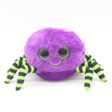 "Ty Beanie Boos Big Eyes 6"" Plush Purple Spider Animal Toys"